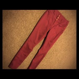 maroon jeans bought from the mall